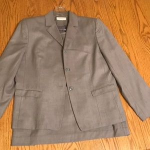 Worthington 14 steel grey 3-button lined suit